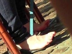 candid shoeplay feet natural nails