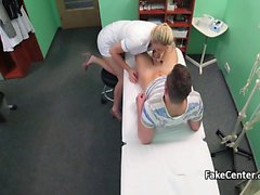 Nurse fucked teen stud in office