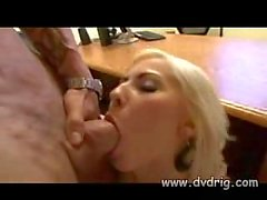 Cum swallowing after hardcore in office