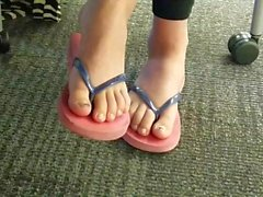 Find - candid Asian toes flip flops part one
