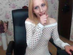 Lingerie Wearing Teen Beauty Fingers Her Pussy Solo