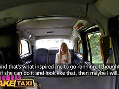 Kadın Sahte Taksi Sarışın Spor Babe büyük memeli sever
