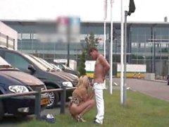 Public Sex At A Car Dealership
