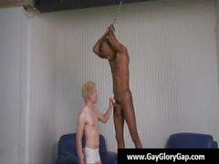 Homosexuell Handjobs - Homosexuell weiße Jungs beim Wichsen erwischt schwarz Dudes 21