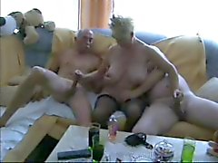 Ältere bisexual Trio