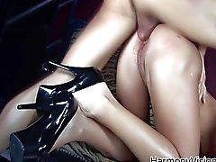 Brunette whore gets her ass pounded