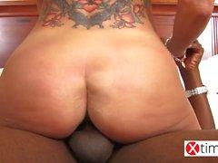 Very dirty Italian MILF play with a big black cock