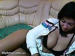 Smoking Latina With Big Boobs