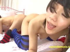 Rina Hatsume Ichigo Aoi Explore Each Others Butts With Dildos And Fingers