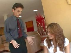 Allie Haze seduce old man