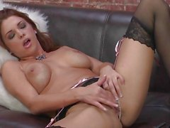 Hottie Sabrina Maree loves teasing her juicy moist clit