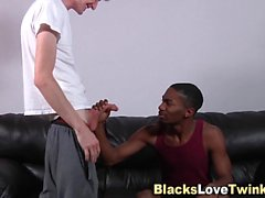 Twink jizzer black ass