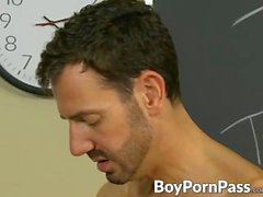Bryan Slater wants to fuck Dustins small ass as he bends him over