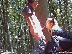 Knull utomhus på i Italienska skogen