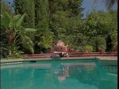 Lesbians poolside