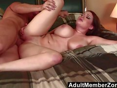 AdultMemberZone - Busty redhead shakes her boobs for a big