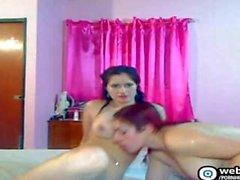 Amateur threesome on cam show