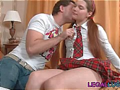 Pigtailed schoolgirl is being tutored and then being sexed