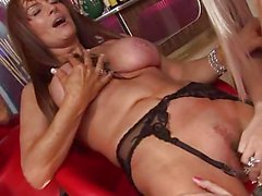 British lesbian orgy with 7 babes in stockings