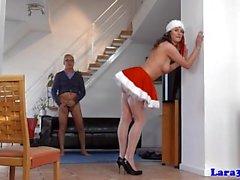 Classy christmas milf sixtynines lucky guy