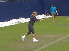 Sabine Lisicki Training In Legging