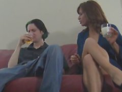stepmom and friend make him eat his own cum