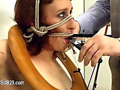 Extreme BDSM toilet hooker fucked anally hard