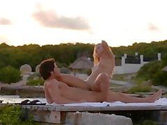 Pussy licking and penetrate by the sea