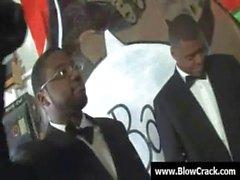 Interracial Gangbang - The power of big black cock 01