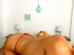 Big boobs babe strips on webcam