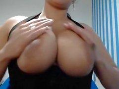 Webcam latina with very big nipples and warm milk