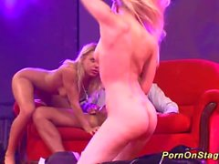 groupsex porn on public stage