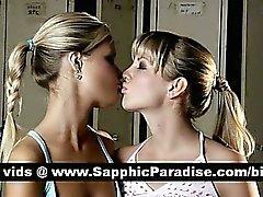 Anjelik Sarı lesbias öpüşme ve nipeli yalamak ve sevici sevgi haiz