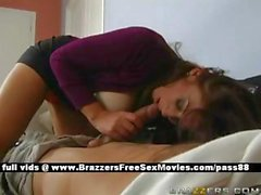 Super sexy redhead slut gets her tits licked