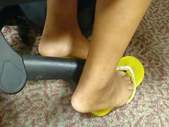 HS Friend's Candid Beautiful Feet in the Library