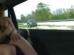 Big Titted Sandra Fucked Whilst On The Road