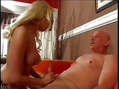 Hot Blonde Jerking And Smoking
