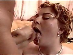 Chubby girl with cumshot