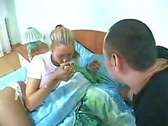 Sex starving dude fucks sleeping chick
