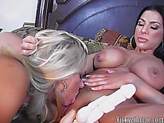 Sexy Breasty mother I'd like to fuck Vicky Vette Plays With Large Titted Brunette Hair