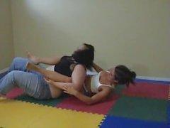 BBW Wrestles Sexy Skinny Girl