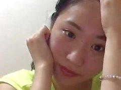 Азиатский подросток Перископ Downblouse Boobs