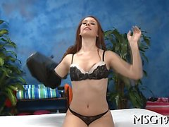 Alluring sex goddess in sexy lingerie rides penis and moans