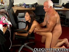 Teen fucks elders cock