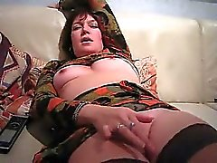 Milf matures fingering her vagina and gets penis