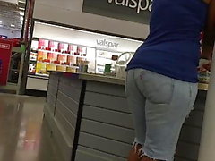 Ebony maduras Jean Shorts Hips e Ass