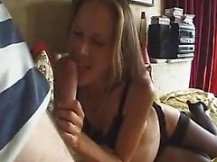 Her big boobs flop like mad as she rides his big cock