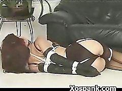 Abusivo la puta Azote de desagradable En el Fetish Extreme