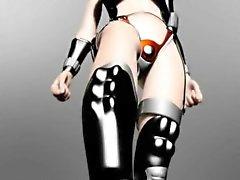 3D anime slave gets boobs tortured