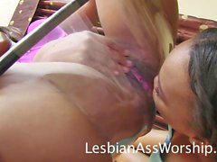 Black Lesbian Facesitting Ass Eating Fun Nikki Ford and Londyn Taylor